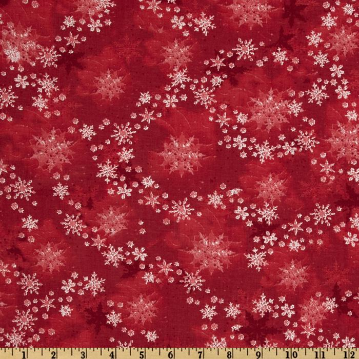 Merry Christmas Snowflakes New Red