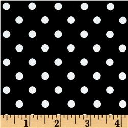 Cotton Stretch Poplin Polka Dots Black/White