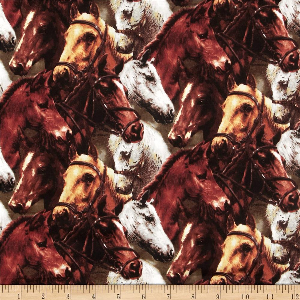 World of Horses Packed Horses Brown