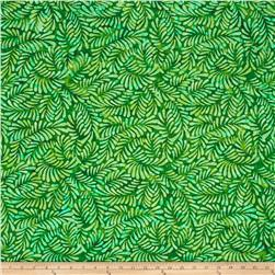 Wilmington Batiks Feathers Bright Green