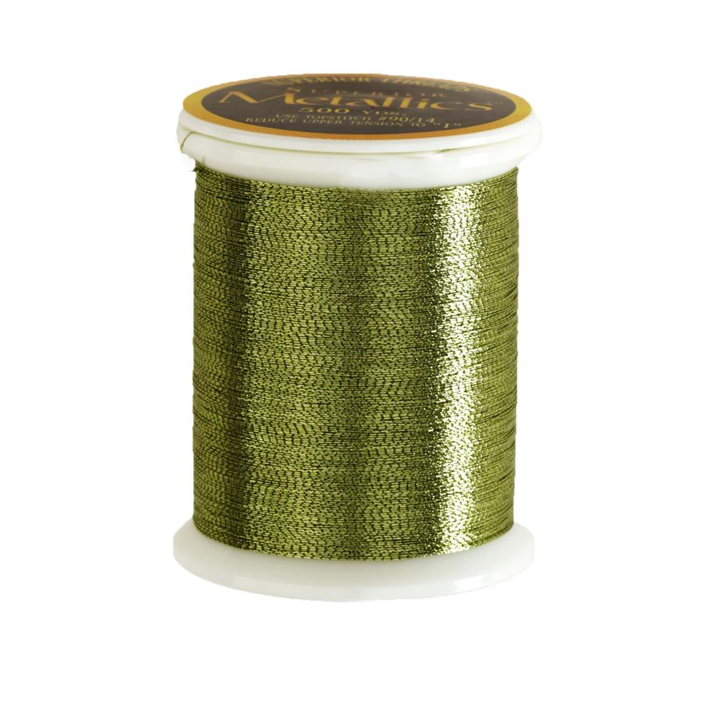Superior Metallic Thread 500yds Green Apple