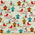 Moda Jingle Birds Birds & Houses Cream