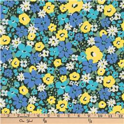 Kaufman Flora Flower Bunch Blue