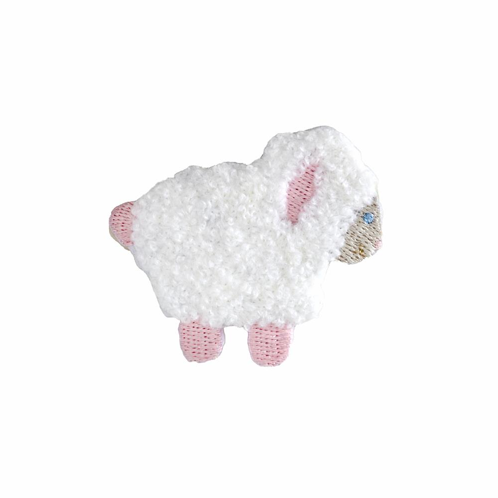 Lamb Applique White/Pink