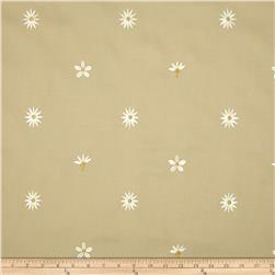 Richloom Embroidered Lucky Flower Khaki