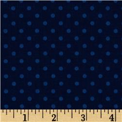 Bumper-2-Bumper Tonal Dot Dark Blue Fabric