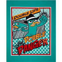 Disney Phineas and Ferb Agent P Comic Panel Turquoise