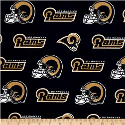 NFL Cotton Broadcloth Los Angeles Rams Purple
