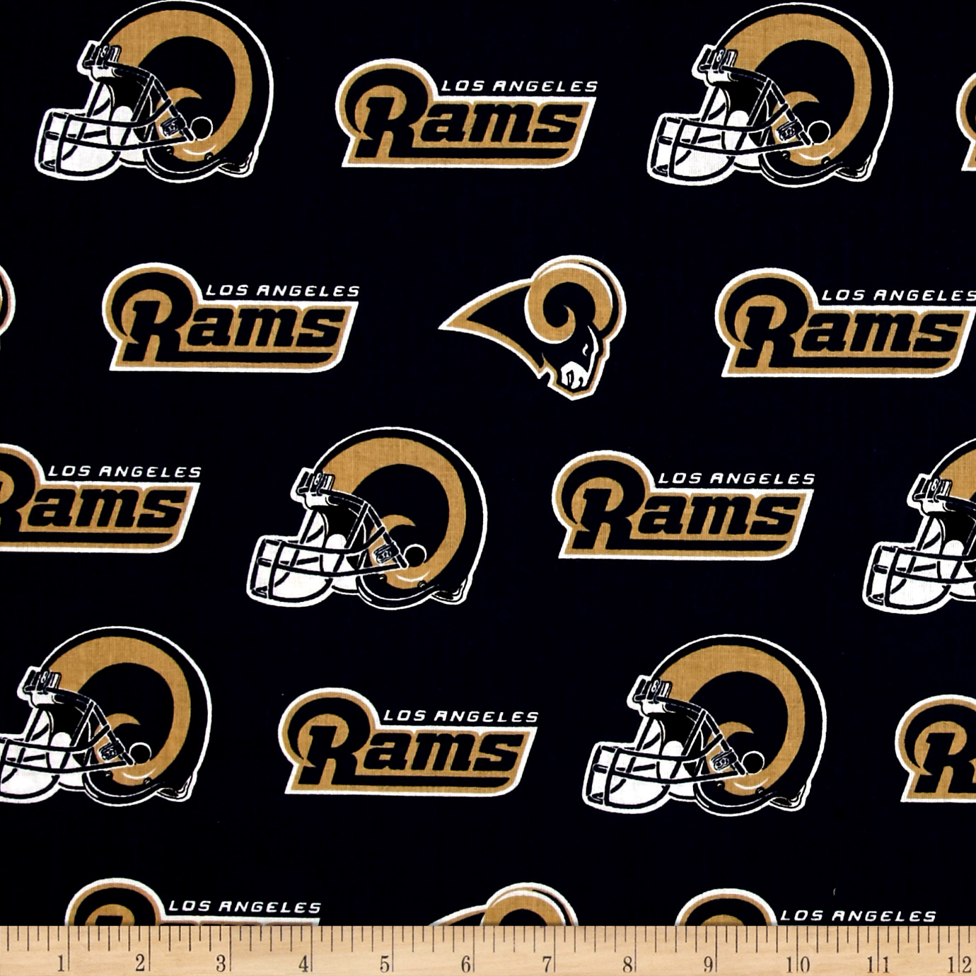 NFL Cotton Broadcloth Los Angeles Rams Purple Fabric by Fabric Traditions in USA