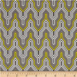 Design Studio Fretwork Yellow Gray