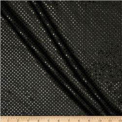 Sequin Dot Mesh Black