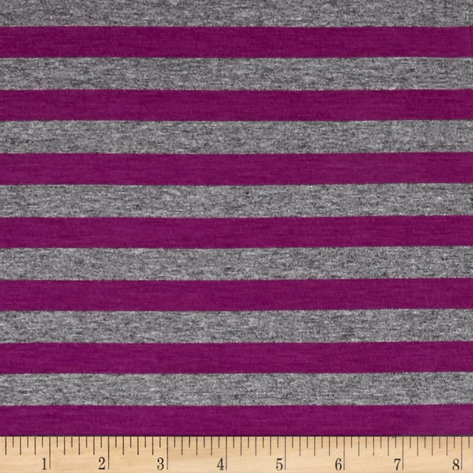 Jersey Knit Violet Stripes/Gray