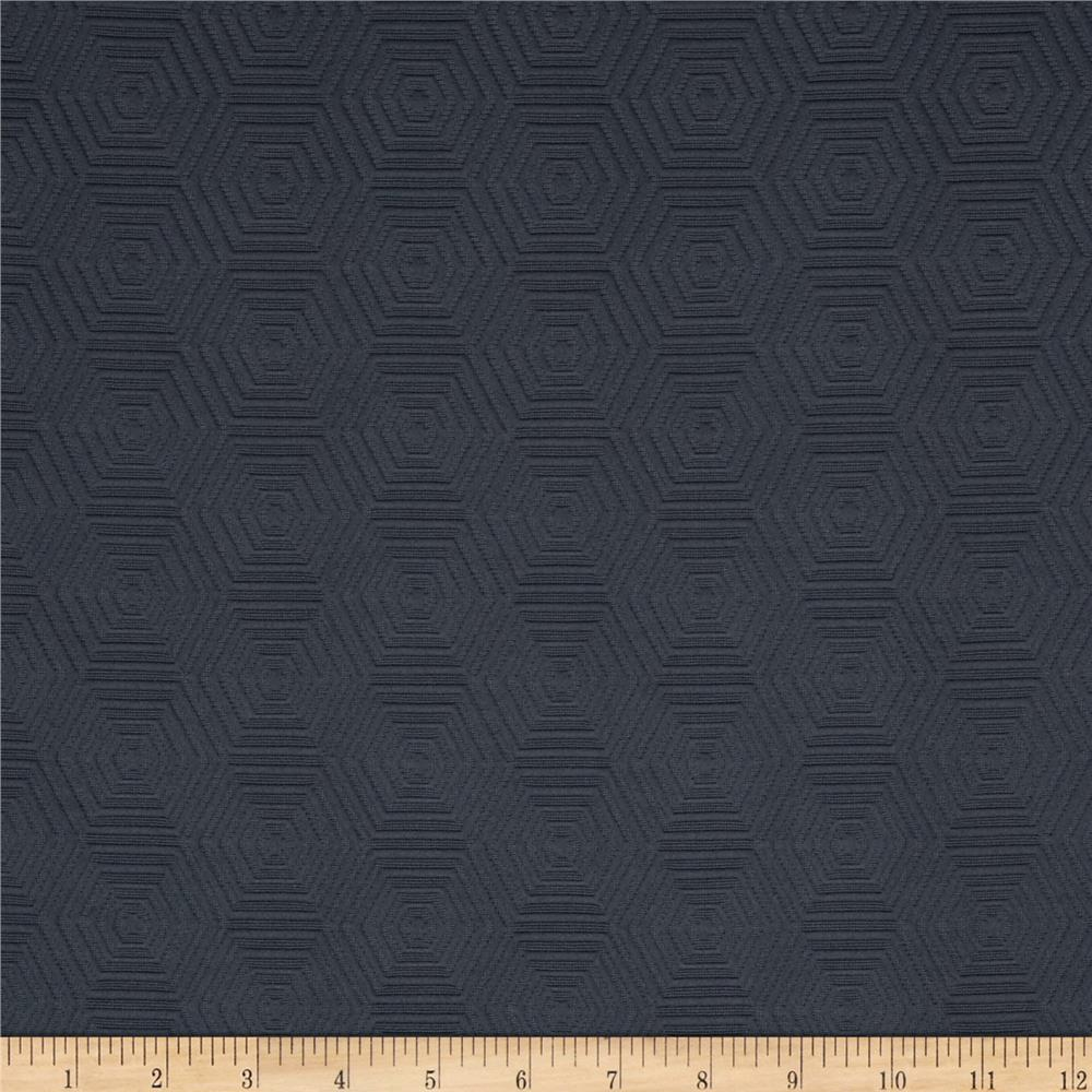 HGTV HOME Hex Appeal Solid Jacquard Zinc