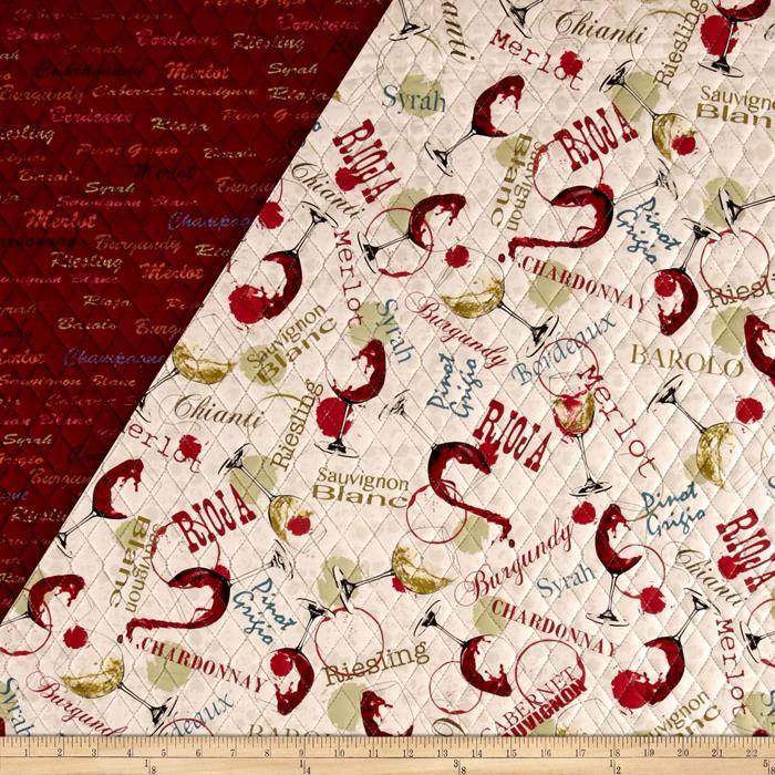 Wine Country Double Sided Quilted Fabric