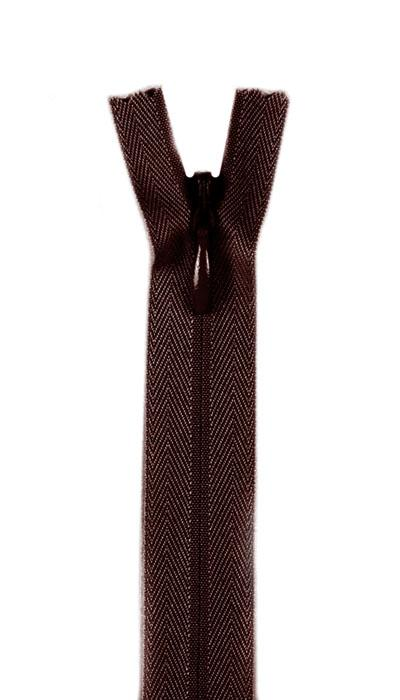 "7/9"" Poly Invisible Zipper Cloister Brown"