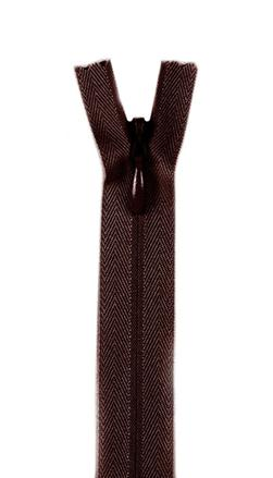 7/9'' Poly Invisible Zipper Cloister Brown