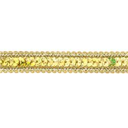 1/2'' Hologram Sparkle Sequin Trim Gold