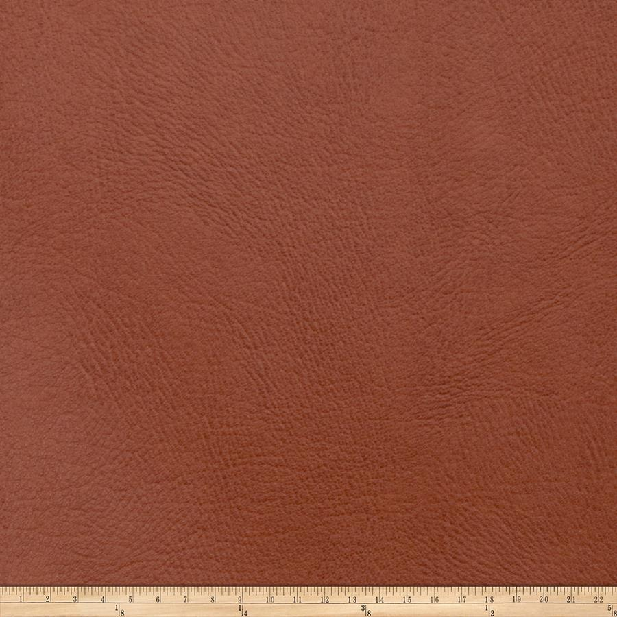 Fabricut Zinc Faux Leather Cognac