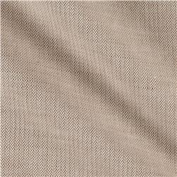 Cotton Linen Pique Natural Herringbone
