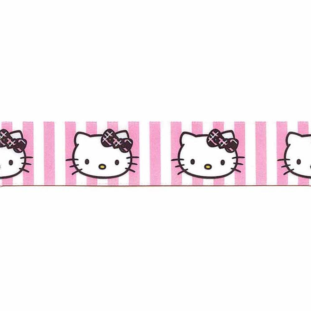 7/8'' Hello Kitty Stripes Ribbon Pink