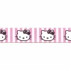 "7/8"" Hello Kitty Stripes Ribbon Pink"