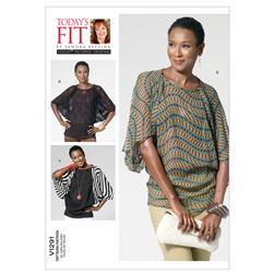 Vogue Misses' Top Pattern V1291 Size OSZ