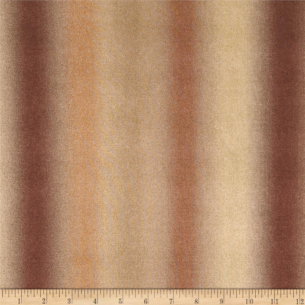 Designer Stretch ITY Knit Ombre Bronze/Gold/Copper