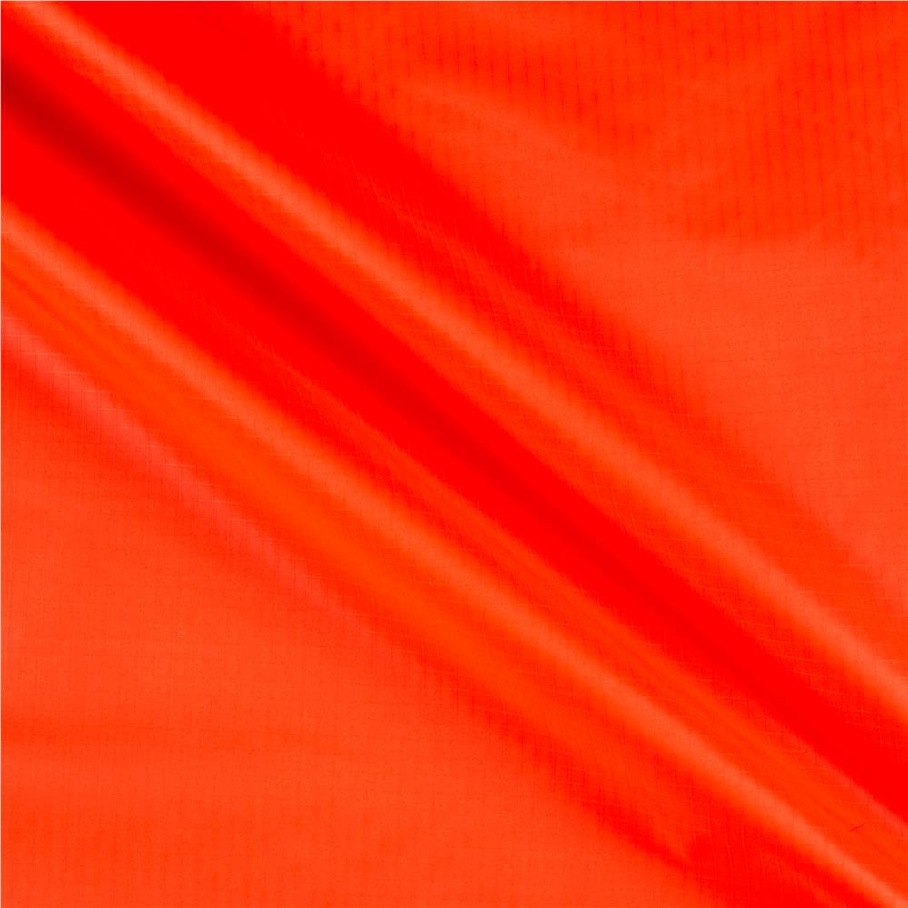 Nylon Rip Stop Neon Orange Discount Designer Fabric