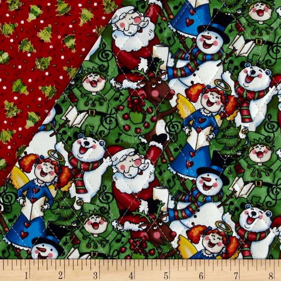 Christmas 2015 Double Sided Quilted Singing Santa Multi - Discount ... : double faced quilt fabric - Adamdwight.com