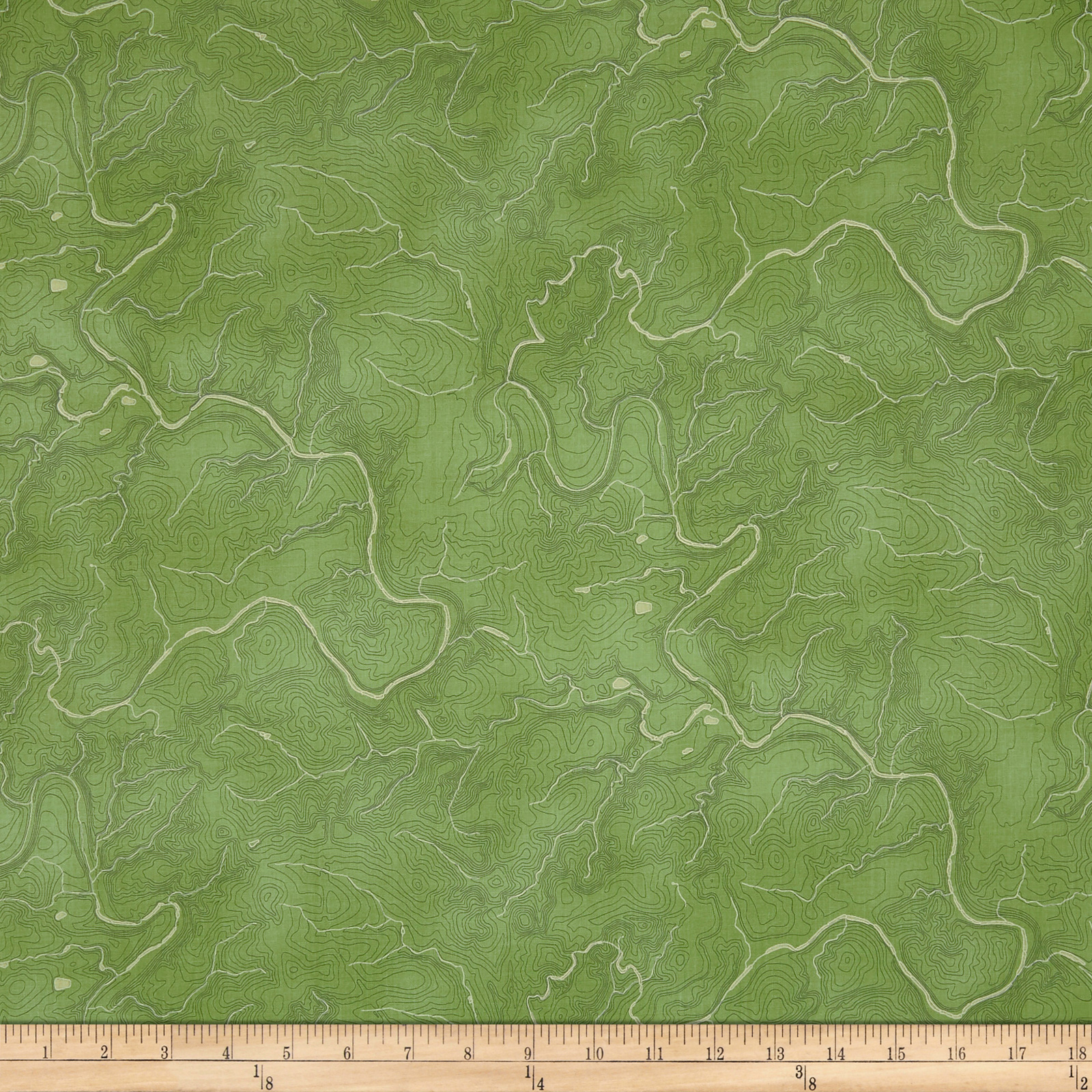 INOpets.com Anything for Pets Parents & Their Pets Meridian Topography Green Fabric