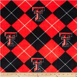 Collegiate Fleece Texas Tech University Red Fabric