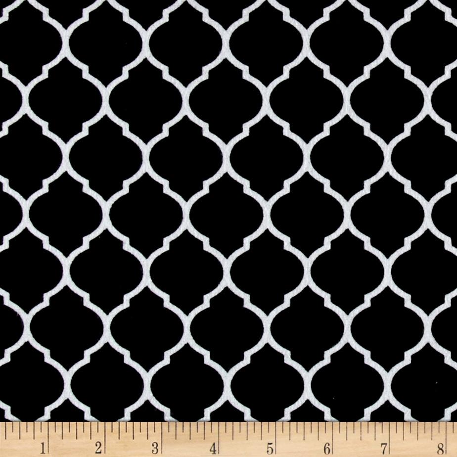 Flannel Trellis Black/White Fabric By The Yard