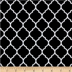 Flannel Trellis Black/White