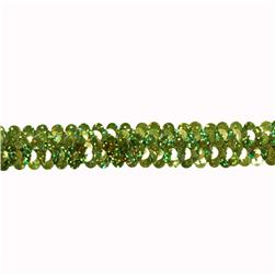 Stretch 7/8'' Holographic Sequin Trim Green
