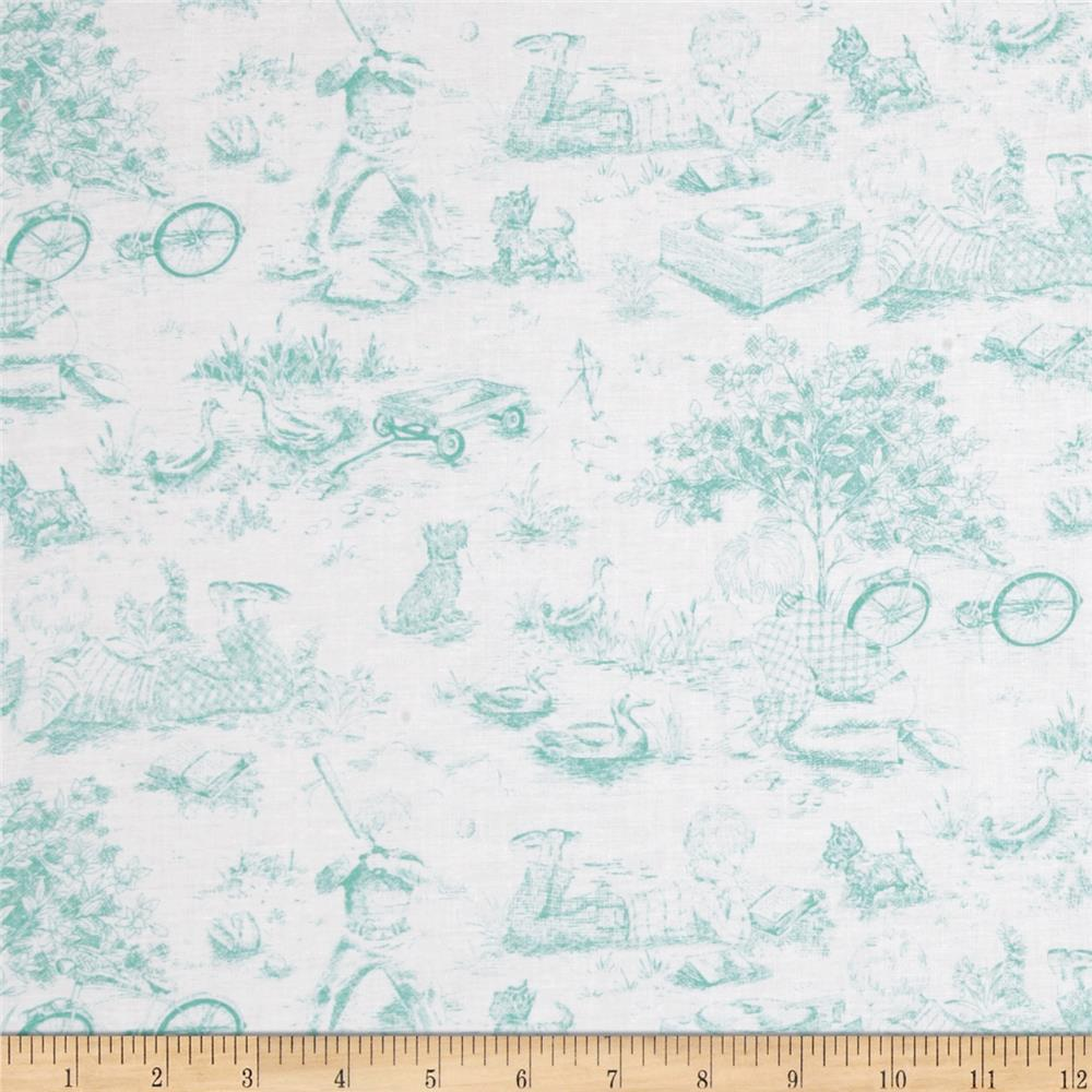 "Precious Beginnings 60"" Pretty Toile Blue"