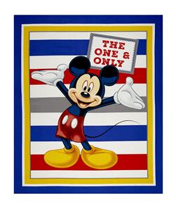 "Disney Mickey Traditional Mickey with Stripes 36"" Panel Blue"
