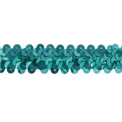 "7/8"" Stretch Metallic Sequin Trim Aqua Blue"