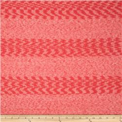 Slub Sheer Hatchi Sweater Knit Tonal Stripes Coral Pink