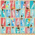 Timeless Treasures Fun In The Sun Beach Babe Girls On Towels Sand