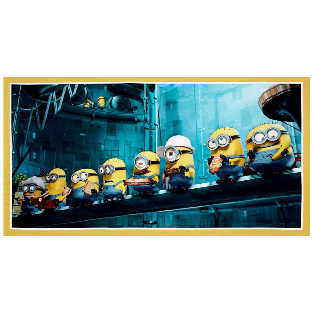 Millions Of Minions Minions In A Row Digital 23'' Panel Yellow Fabric