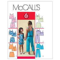 McCall's Children's/Girls' Tops, Skorts, Shorts and Capri Pants Pattern M4762 Size CCE