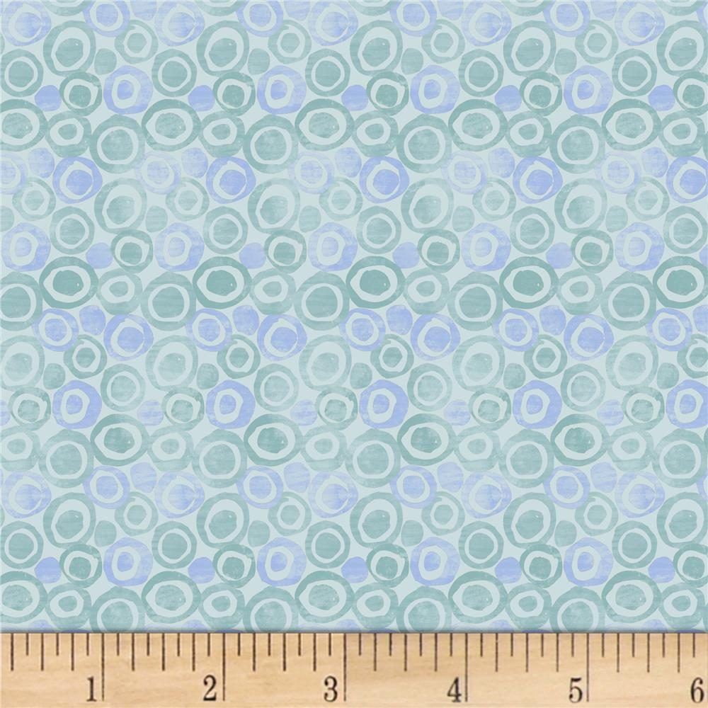 Blank Quilting Tessellations Multi Abstract Dot Light Blue