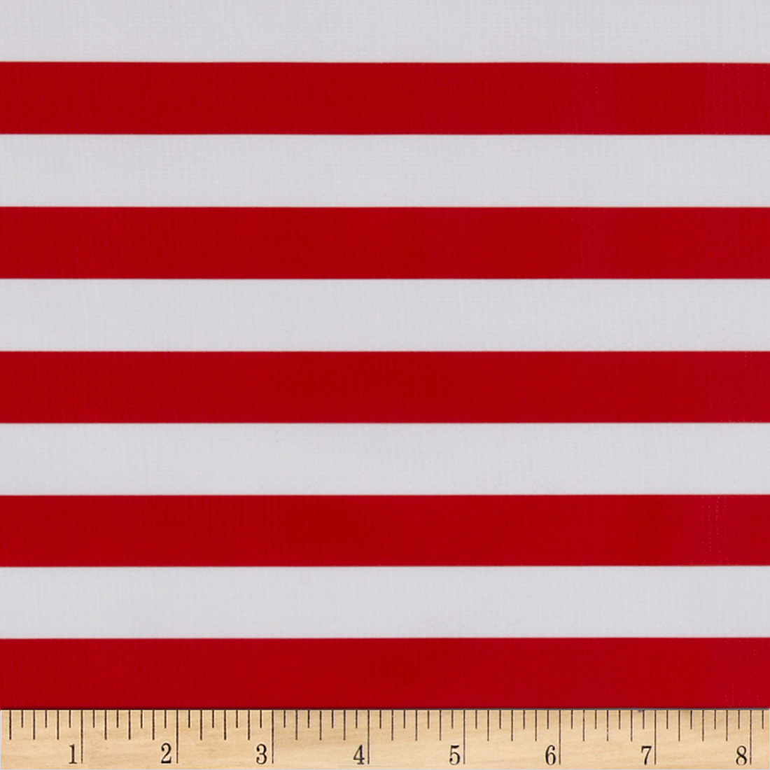 Oilcloth Stripes Red Fabric by Oilcloth International in USA