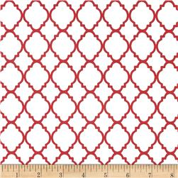 Quatrefoil White/Red