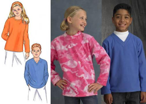 Kwik Sew Childrens' Fleece Shirts Pattern