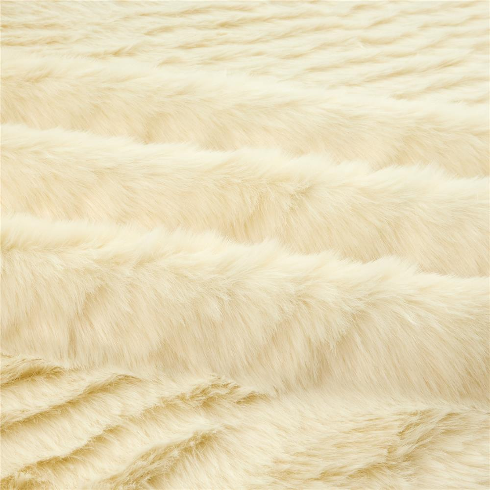 Shannon Faux Fur Solid Mink Ivory