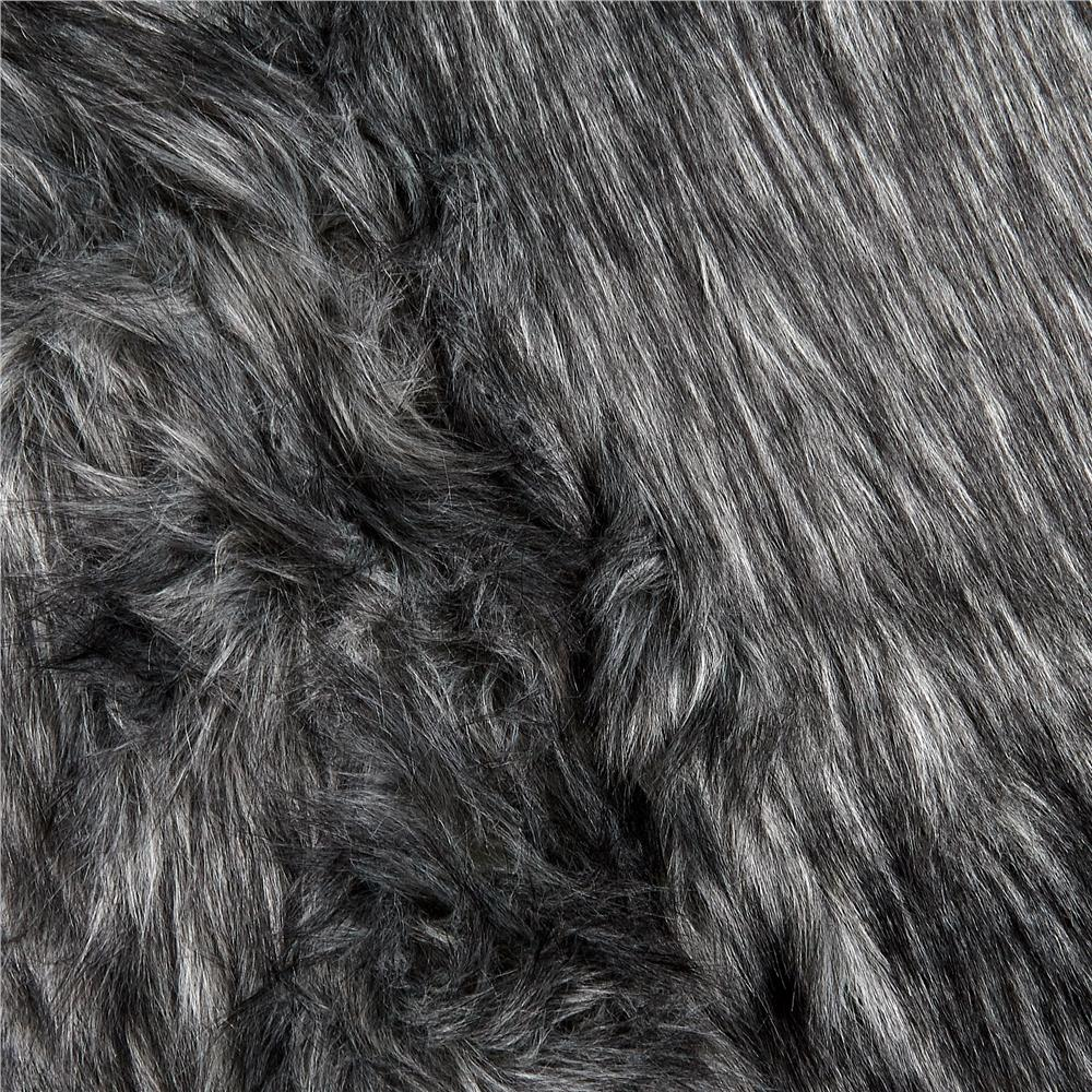 Faux Fur Monkey Shag Charcoal