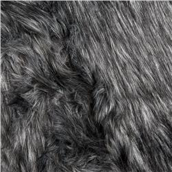 Faux Fur Monkey Shag Gray Frost