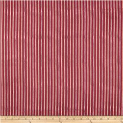 Home Accents Calcutta Jacquard Stripe Raspberry Fabric