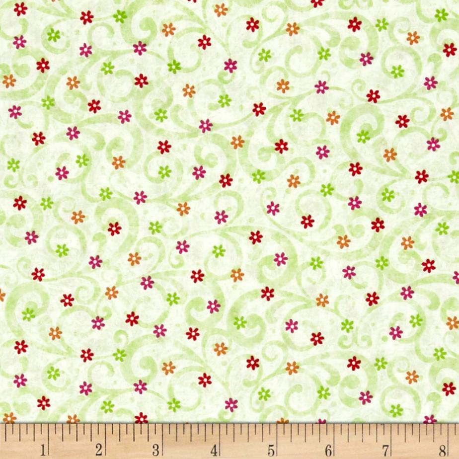 Pecking Order Posies Pale Lime